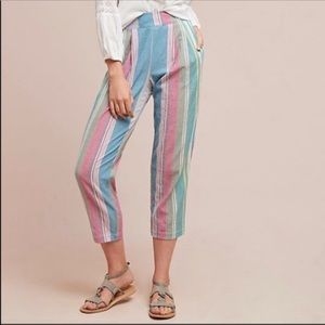 The Odells Anthro Rainbow Striped Sunwashed Pants